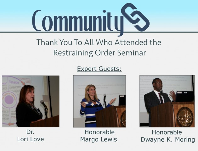 Restraining Order Seminar